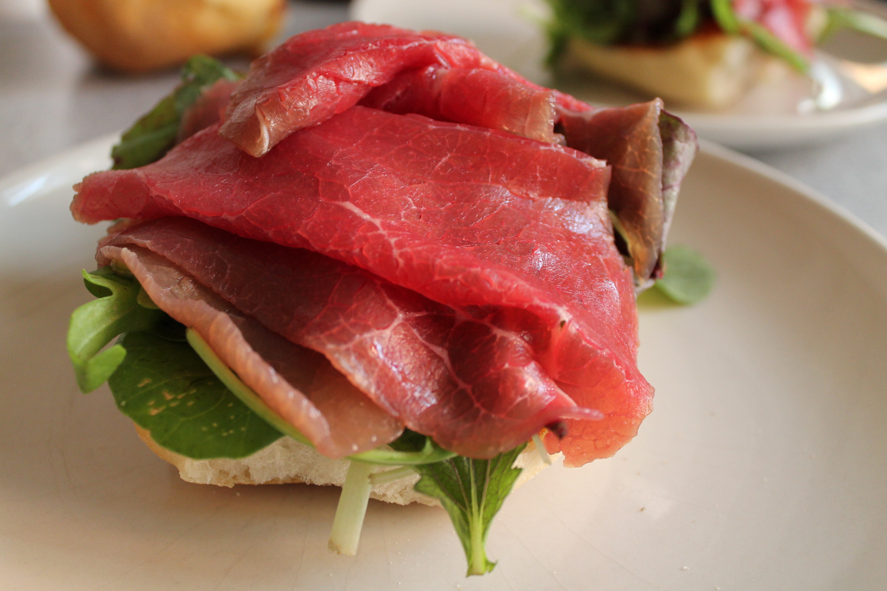 Carpaccio sandwich