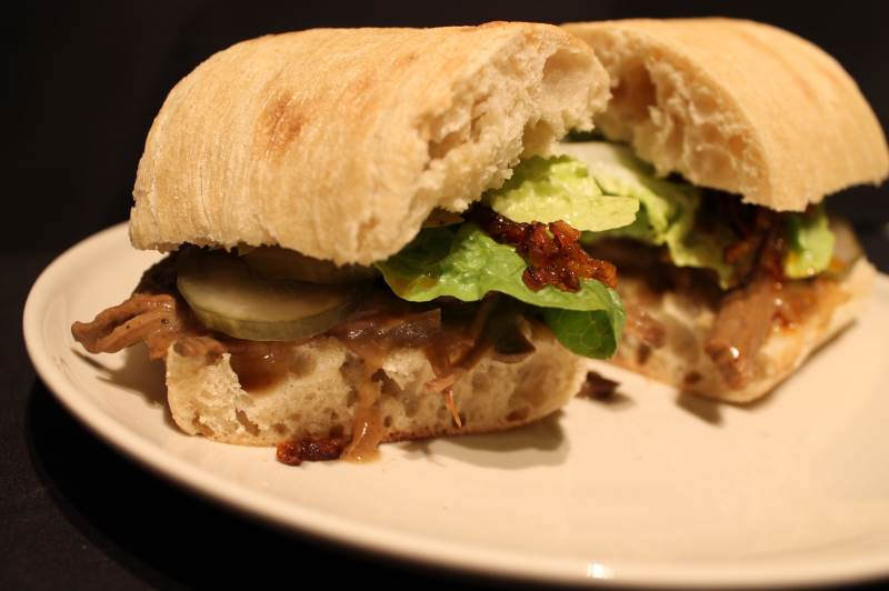 Sandwich med pulled beef